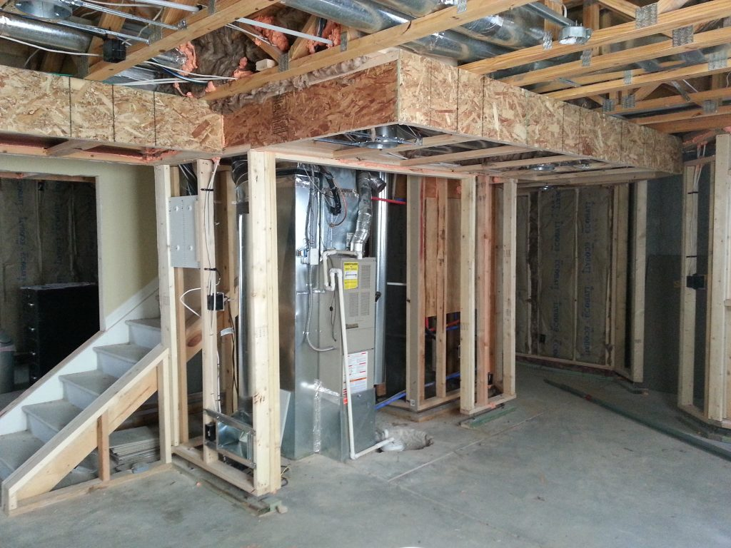 Framed out basement
