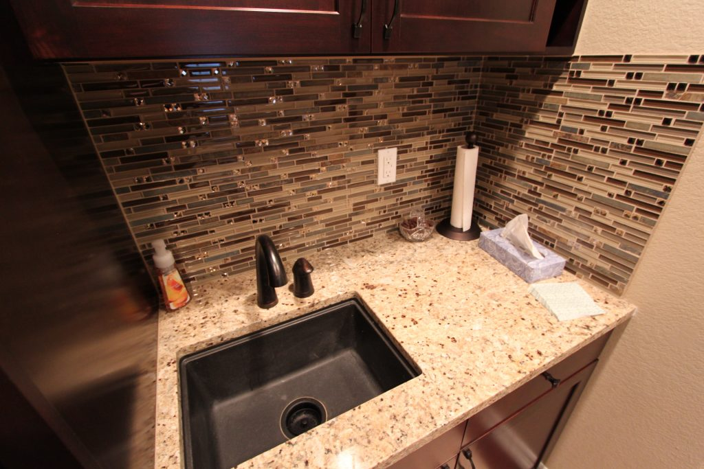 Mosaic Backsplash wet bar